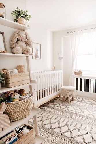 Nursery Reveal! A Gender Neutral Look with Blogger [name_u]Kendall[/name_u] Kremer | Nursery  baby room, [name_u]Baby[/name_u] room neutral, Girl nursery room