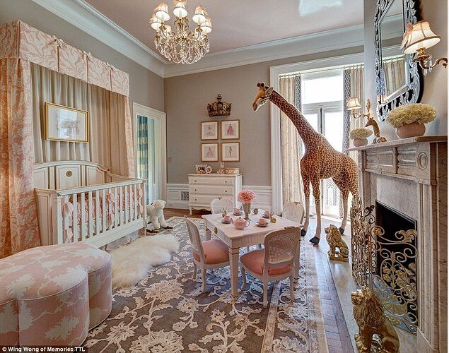 A room fit for a princess: The most extravagant girls' rooms revealed |  Traditional nursery, Luxury nursery, Beautiful nursery