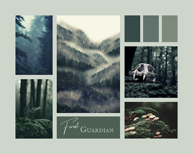 Moodboard - Forest Guardian