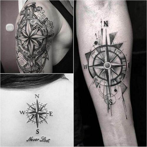 Compass Tattoo Designs - Popular Ideas for Compass Tattoos with Meaning | Compass  rose tattoo, Compass tattoo design, Compass tattoo
