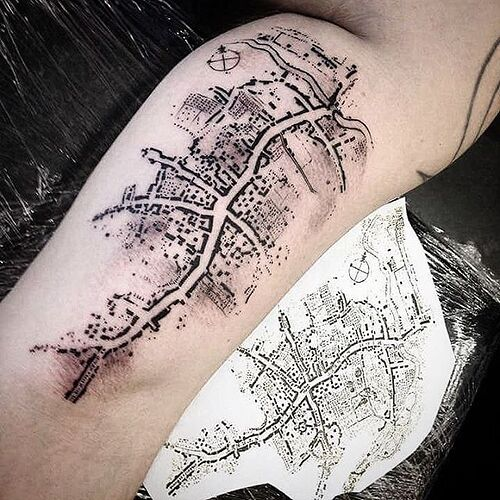 Attention Travelers, These 100+ Map Tattoos Will Give You Major Wanderlust  | Map tattoos, Tattoos, Hawaiian tattoo