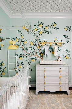 Lemon Drop Nursery with Lemon Wallpaper